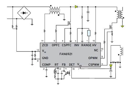 Fairchild Semiconductor: FAN6921 - интегральная схема контроллера...