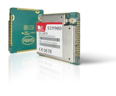 SIM908 - готовый к использованию четырехдиапазонный GSM/GPRS модуль функцией GPS навигации.