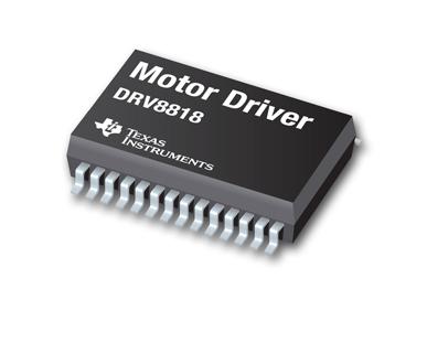 Представленный компанией Texas Instruments контроллер биполярного шагового двигателя DRV8818 интегрирует два...