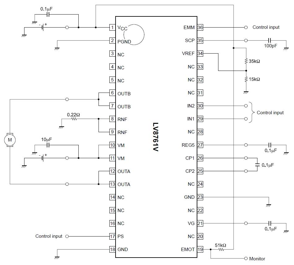 схема управления постоянного двигателя