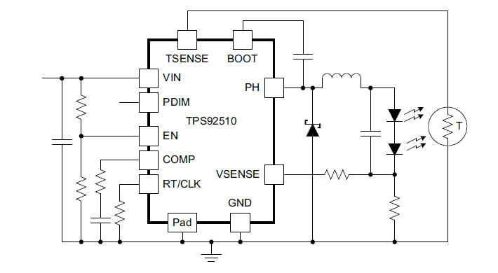 Схема импульсного повышающего драйвера для мощного светодиода фото 378