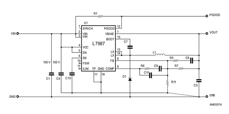 Типовая схема включения L7987